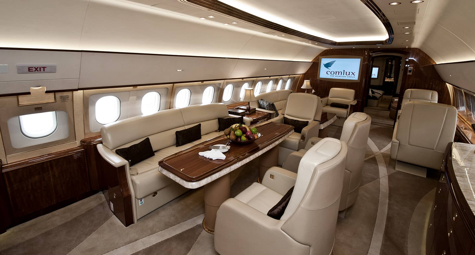 Airbus 319 corporate jet private jet charter for Large cabin business jets
