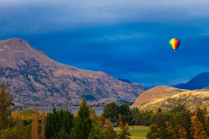 Queenstown, New Zealand hot air balloon