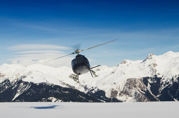 courcheval altiport helicopter