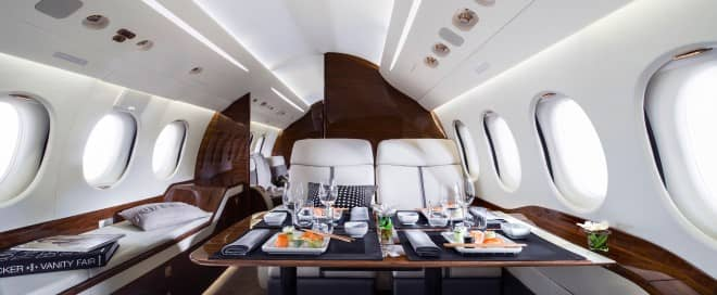 food on private jets