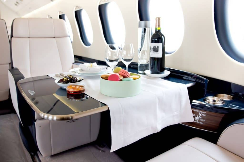 food on private jet