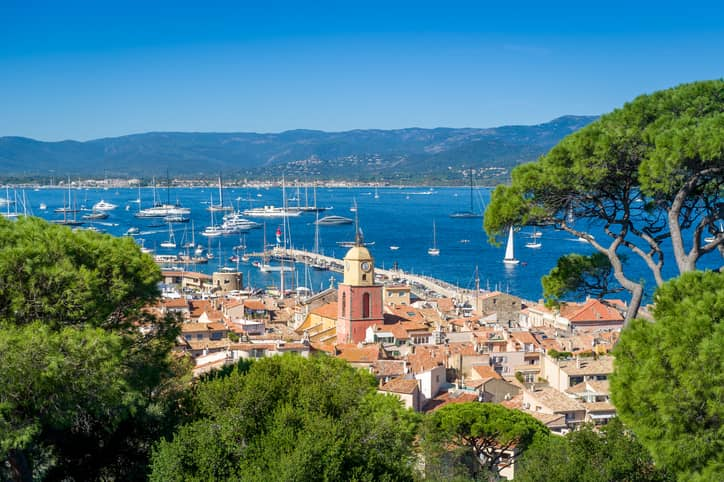 Saint-Tropez old town and yacht marina